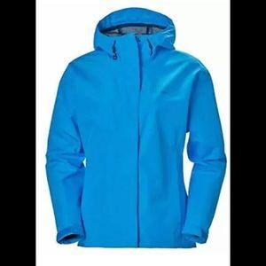 Helly-Hansen Seven J Waterproof Windproof Breathable Rain Coat Jacket Bluebird